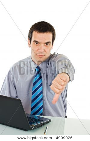 Businessman Show Thumb Down Sign