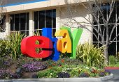 San Jose, California, March 28, 2009 - Ebay Inc. Company Logo In Front Of The Whitman Campus