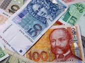 Photo of Croatian banknotes