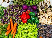 stock photo of stall  - Vegetable in market stall - JPG