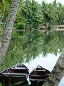 picture of conic  - Peaceful river in Hoi An in Vietnam - JPG