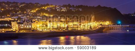Teignmouth At Night Devon England