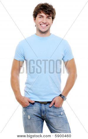 Portrait Of Smiling Happy Glad Guy