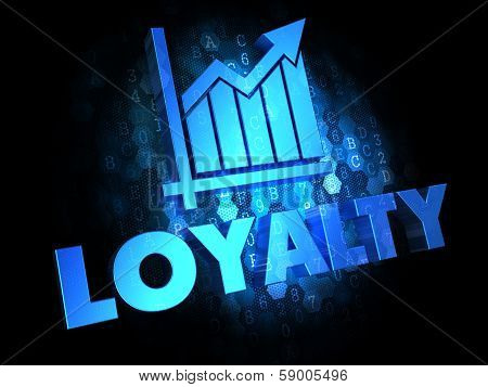 Loyalty Concept on Dark Digital Background.