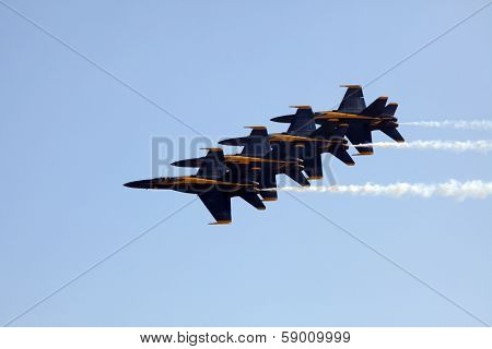 MCAS MIRAMAR, CA - OCTOBER 3: Blue Angels squadron Air Show October 3, 2009 in MCAS Miramar, CA