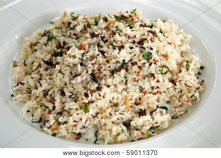 herb fried rice, Thai fusion dish