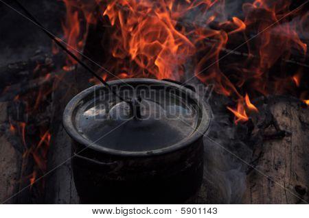 Fireplace And Pot