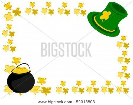 Gold Shamrock Hat