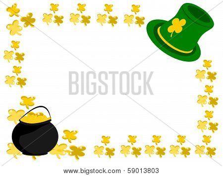 Gold Shamrock Hat