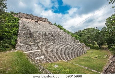 The Great Pyramid In Uxmal, Yucatan, Mexico