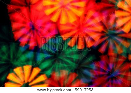 Light Rays Psychedelic Background