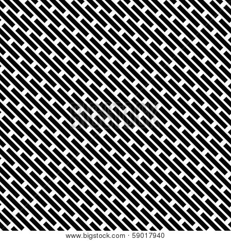 Seamless black and white vivid pattern background, vector