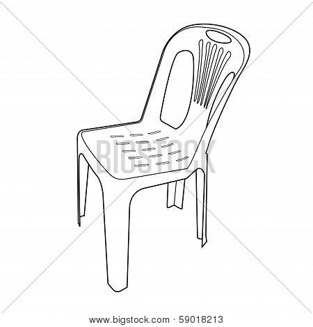 Plastic Chair Outline Vector.eps