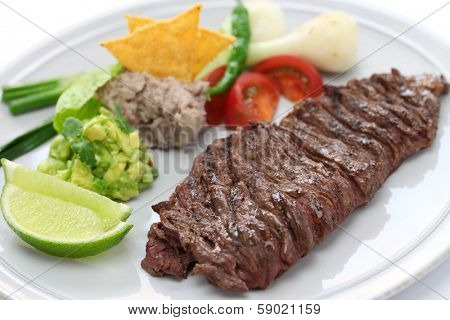 arrachera, mexican spiced skirt steak