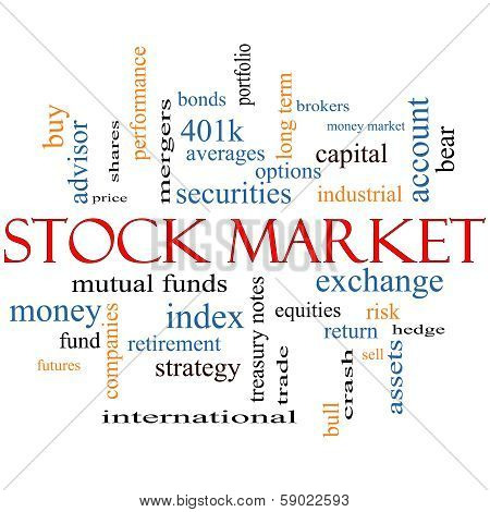 Stock Market Word Cloud Concept