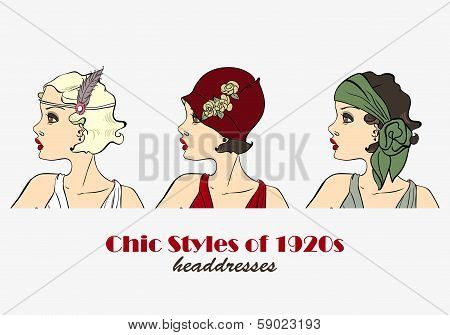 Chic Styles of Headdresses of 1920s