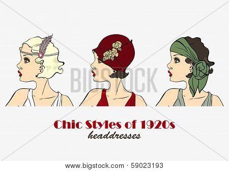 Chic Styles of Headdresses of 1920s