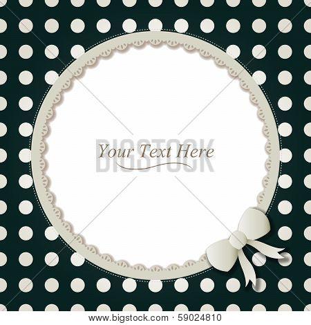 Round Polka Dot Frame