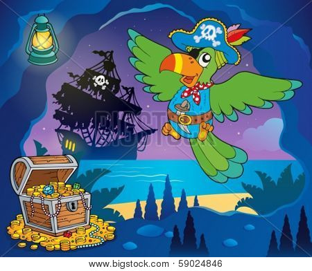Pirate cove topic image 1 - eps10 vector illustration.