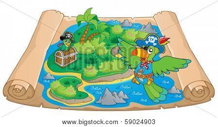 Treasure map theme image 6 - eps10 vector illustration.