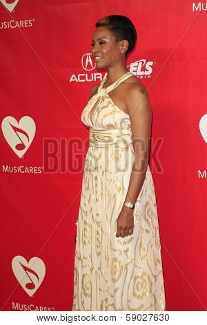 LOS ANGELES - JAN 24:  MC Lyte at the 2014 MusiCares Person of the Year Gala in honor of Carole King at Los Angeles Convention Center on January 24, 2014 in Los Angeles, CA