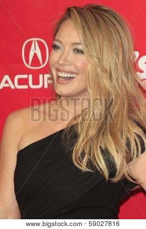 LOS ANGELES - JAN 24:  Hilary Duff at the 2014 MusiCares Person of the Year Gala in honor of Carole King at Los Angeles Convention Center on January 24, 2014 in Los Angeles, CA