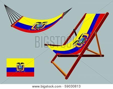 Ecuador Hammock And Deck Chair Set