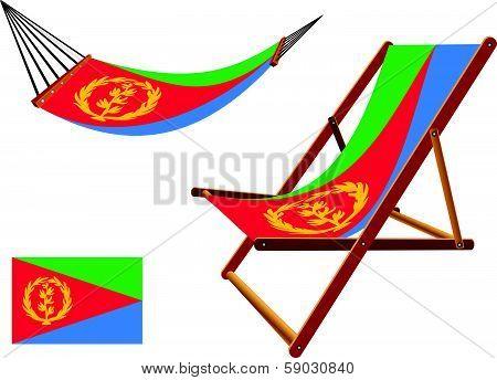 Eritrea Hammock And Deck Chair Set