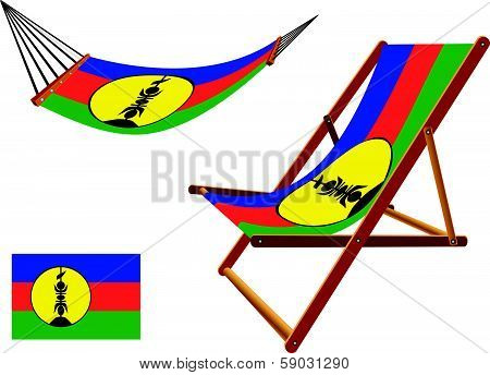 New Caledonia Hammock And Deck Chair Set