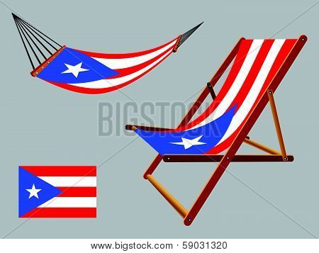 Puerto Rico Hammock And Deck Chair Set