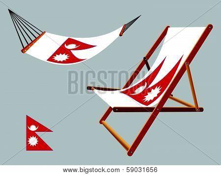 Nepal Hammock And Deck Chair Set