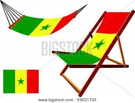 Senegal Hammock And Deck Chair Set