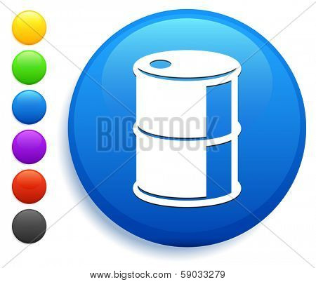 Oilcan Icon on Round Button Collection