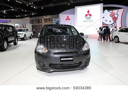 Nonthaburi - November 28: Mitsubishi Mirage Car On Display At The 30Th Thailand International Motor