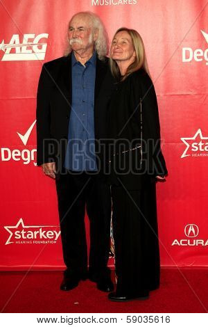 LOS ANGELES - JAN 24:  David Crosby, Jan Crosby at the 2014 MusiCares Person of the Year Gala in honor of Carole King at Los Angeles Convention Center on January 24, 2014 in Los Angeles, CA