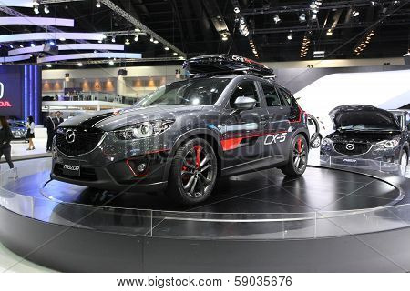 Nonthaburi - November 28: Mazda Cr-5 Car On Display At The 30Th Thailand International Motor Expo On