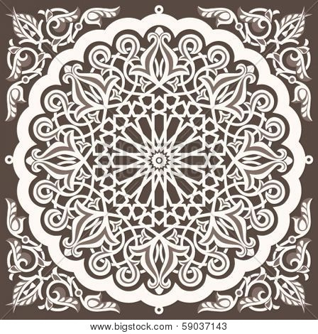 Arabic vintage seamless ornament for background design
