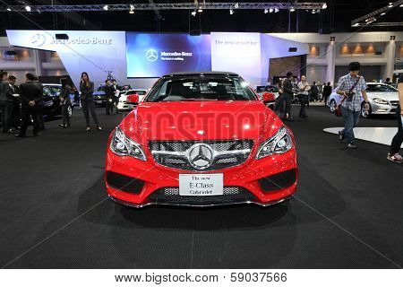 Nonthaburi - November 28:mercedes-benz The New E-class Cabriolet Car On Display At The 30Th Thailand