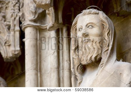 Detail of the apostles door in the Cathedral of Valencia, Valencia, Spain