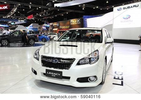 Nonthaburi - November 28: Subaru Legacy Car On Display At The 30Th Thailand International Motor Expo