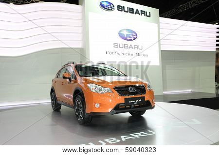 Nonthaburi - November 28: Subaru Xv Car On Display At The 30Th Thailand International Motor Expo On