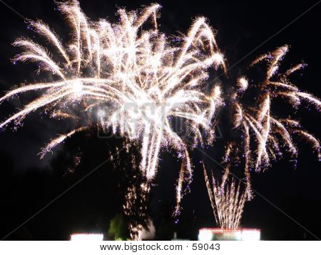 White Colorful Fireworks
