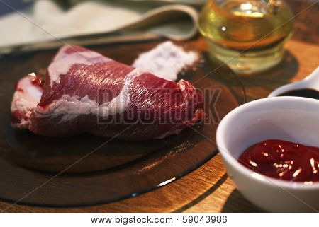 Raw beef barbecue