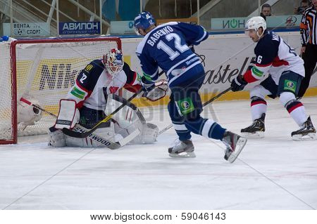 Y. Babenko (12) Forward, Capitan Of Dinamo Team