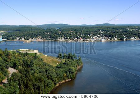 Penobscot River Between Fort Knox And Bucksport In Maine