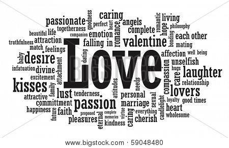 Love word cloud illustration