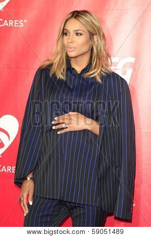 LOS ANGELES - JAN 24: Ciara at the 2014 MusiCares Person Of The Year event at the Convention Center on January 24, 2014 in Los Angeles, CA