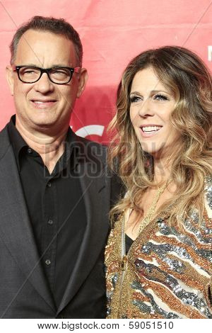 LOS ANGELES - JAN 24: Rita Wilson, Tom Hanks at the 2014 MusiCares Person Of The Year event at the Convention Center on January 24, 2014 in Los Angeles, CA