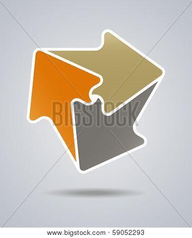 An illustration of infinite arrow icon