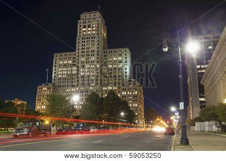 The Art Deco Skyscraper In The Night, Ny